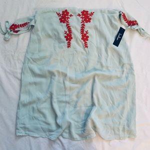 Lulu's off the shoulder floral embroidered dress